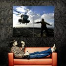 Helicopter Landing Aicraft Carrier Huge 47x35 Print POSTER