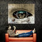 Sci Fi Robot Eye Macro Rust Art Huge 47x35 Print POSTER