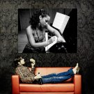 Alicia Keys Bw Soul R B Music Huge 47x35 Print Poster