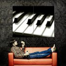 Piano Keyboard Macro Music Art Huge 47x35 Print POSTER