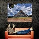 Chichen Itza Maya Mexico Pyramid Around The World Huge 47x35 POSTER