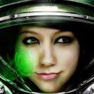 Star Craft Medic Girl Spacesuit Video Game Huge 47x35 Print Poster