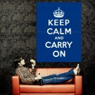 Keep Calm And Carry On Motivation Vintage Retro Art Huge 47x35 POSTER
