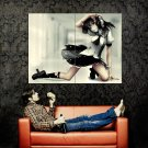 Hot Girl Red Eyes Photocamera Anime Art Huge 47x35 POSTER