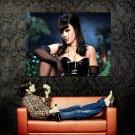 Pink Hot Brunette Singer Music Huge 47x35 Print POSTER