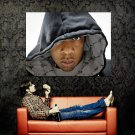 Jay Z Portrait Hood Hip Hop Rap Music Huge 47x35 Print POSTER