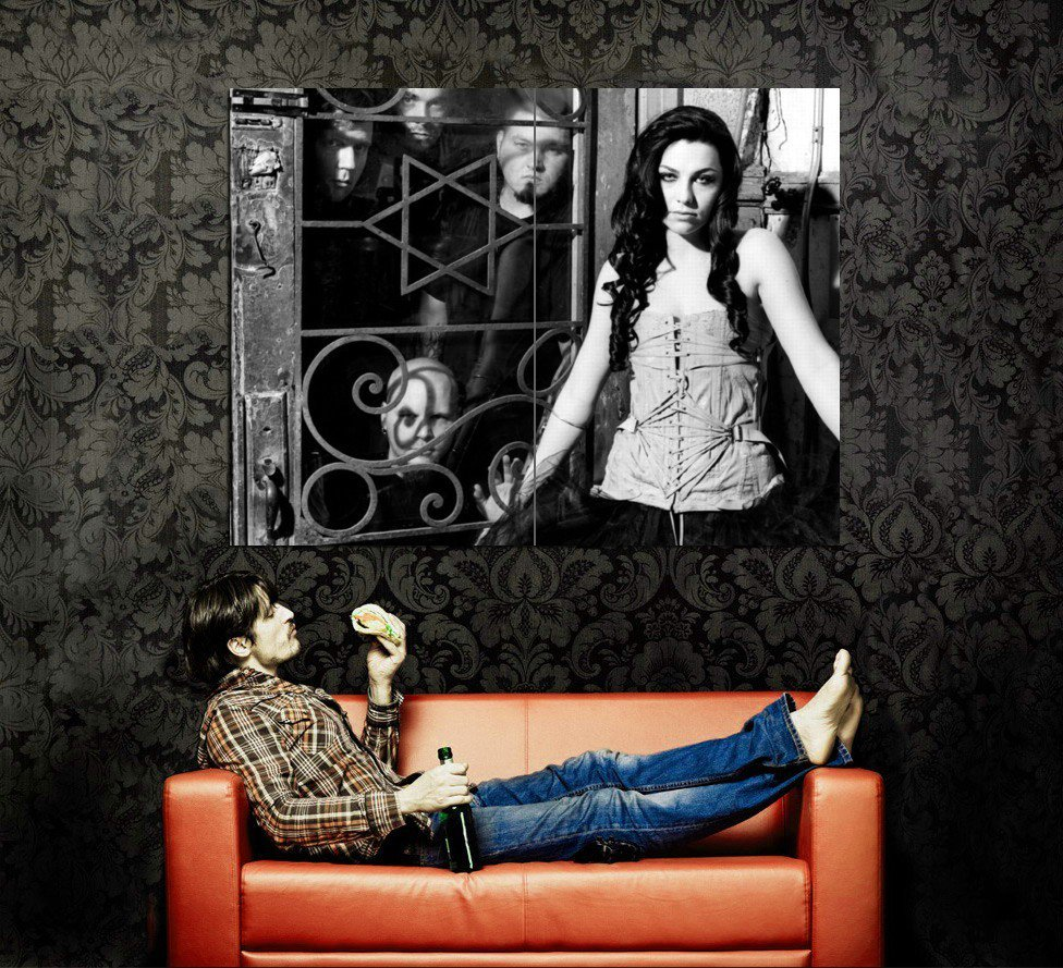 Evanescence Amy Lee BW Rock Music Huge 47x35 Print POSTER