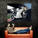 Ducati White Super Sport Bike Motorcycle Huge 47x35 Print POSTER