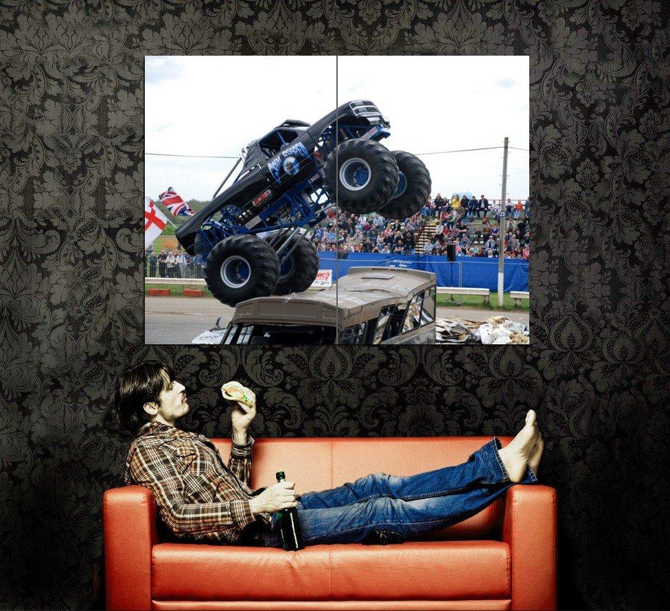 Grim Reaper Monster Truck Bigfoot Car Huge 47x35 Print POSTER