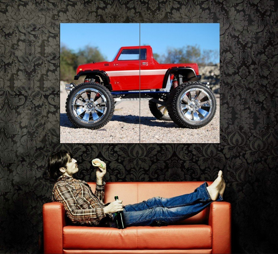 Red Monster Truck Bigfoot Car Huge 47x35 Print POSTER