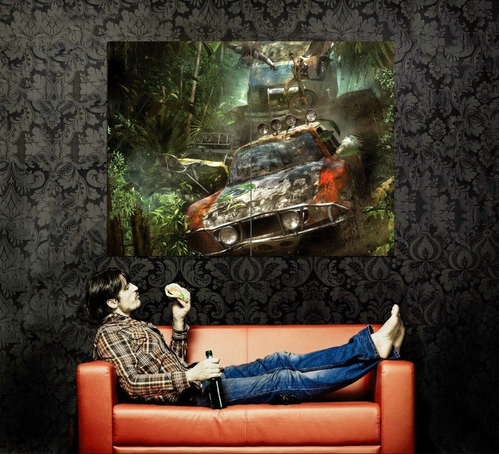 Pacific Rift Monster Truck CG Art Bigfoot Huge 47x35 Print POSTER