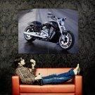 Harley Davidson Black Classic Bike Huge 47x35 Print POSTER