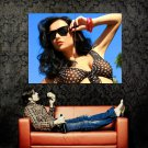 Hot Brunette Babe Sunglasses Boobs Huge 47x35 Print POSTER