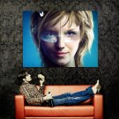 Different Eyes Color Girl Glasses Art Huge 47x35 Print POSTER
