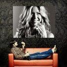 Jenifer Aniston Smiling Portrait BW Huge 47x35 Print POSTER