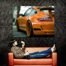 Porsche Orange Rear Sport Car Huge 47x35 Print POSTER