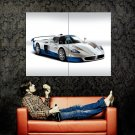 Maserati MC12 White Blue Supercar Huge 47x35 Print POSTER