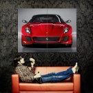 Ferrari 599 GTO Red Front Supercar Huge 47x35 Print POSTER