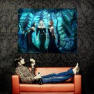 Three Hot Witches Forest Night Fantasy Huge 47x35 Print POSTER