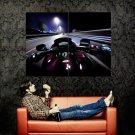 Speed Bike Night Street Lights Huge 47x35 Print POSTER