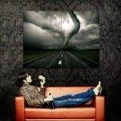 Tornado Storm Road Wind Huge 47x35 Print POSTER
