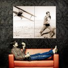 Runaway Sepia Plane Aircraft Huge 47x35 Print Poster