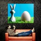 Easter Egg Rabbit Figure Holiday Huge 47x35 Print POSTER