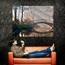 River Bridge Light Shadow Landscape Huge 47x35 Print POSTER
