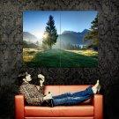 Fir Sun Light Mountains Landscape Huge 47x35 Print POSTER