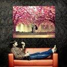 Love Kiss Couple Lake Trees Mood Huge 47x35 Print Poster