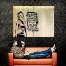 Girl Urban Black Pattern Art Minimal Huge 47x35 Print POSTER