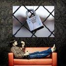Love Never Ends Lock Macro Huge 47x35 Print Poster