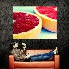 Grapefruit Mellow Juicy Macro Huge 47x35 Print POSTER