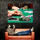 Texas Hold Em Poker Aces Macro Huge 47x35 Print POSTER