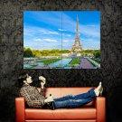 Eiffel Tower Paris France City Huge 47x35 Print Poster