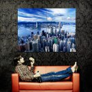 Hong Kong Skyscrapers City River Huge 47x35 Print Poster