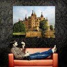 Germany Medieval Castle Lake Huge 47x35 Print Poster