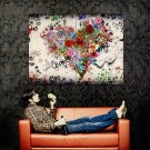 L Amour Heart Rose Love Art Abstraction POSTER