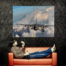 Military Flares Clouds Aircraft Huge 47x35 Print Poster