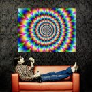 Cool Color Illusion Abstraction Huge 47x35 Print Poster