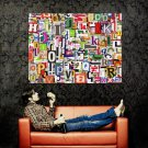 Letters Cool Characters Abstraction Huge 47x35 Print Poster