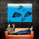 THE DEAD SEA Skeleton Fish Cool Art Huge 47x35 Print Poster