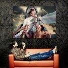Eva Mendes Sexy Hot Campari Print Huge 47x35 POSTER