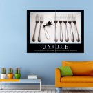 Just Because You Are Unique Demotivatory Huge 47x35 Print POSTER