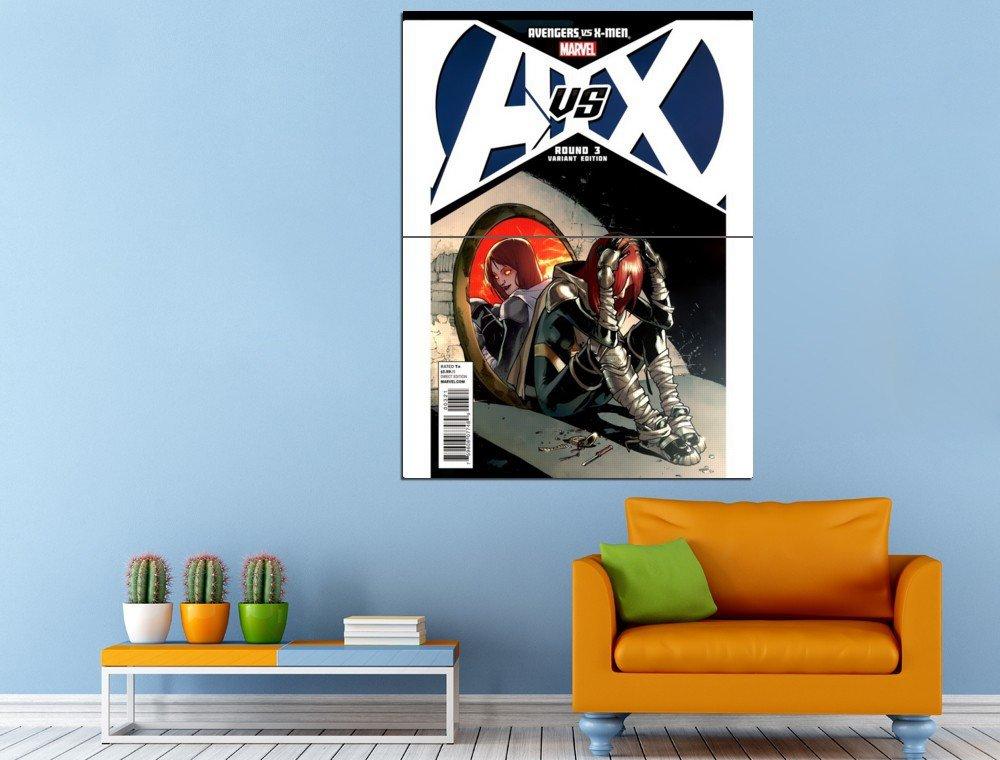 Comics Marvel Avengers Vs X Men Round 3 Var Ed Huge 47x35 Print POSTER