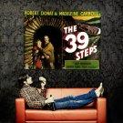 The 39 Steps Retro Movie Vintage Art Huge 47x35 Print Poster