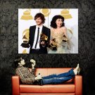 Gotye And Kimbra Funny Grammy Music Huge 47x35 Print Poster
