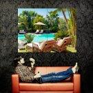 Resort Swimming Pool Palms Huge 47x35 Print Poster