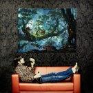 Fantasy Forest Landscape Trees Artwork Huge 47x35 Print Poster