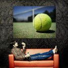 Tennis Ball Macro Sport Huge 47x35 Print Poster